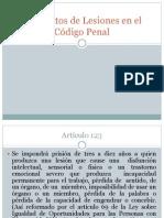Los Delitos de Lesiones en El Código Penal