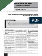 2. Como Implementar y Llenar Adecuadamente El Libro de Matricula de Acciones. 1ra Agosto de 2013-Libre