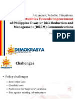 Opportunities Towards Improvement of Philippine Disaster Risk Reduction and Management (DRRM) Communications