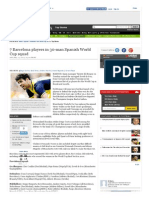 7 Barcelona Players in 30-Man Spanish World Cup Squad - The Times of India