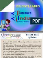 BITSAT Syllabus by Entranceindia