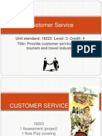 Customer Service in Travel Tourism