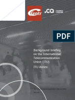 Background Briefing on the International Telecommunication Union - ITU Annex