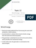 12 - Wind Energy