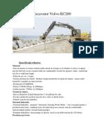 Excavator Volvo EC280