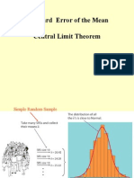 Standard Error of the Mean Central Limit Theorem