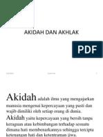 Akidah Dan Akhlak