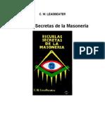 Escuela Secreta de Masoneria c w Leadbeater