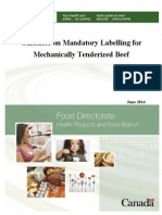 Guidance on labeling of mechanically tenderized beef