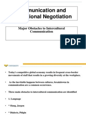 Obstacle of Intercultural Communication | Communication