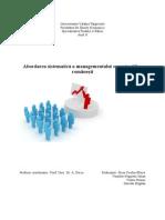 Abordarea Sistematica a Managementului Organizatiilor Romanesti