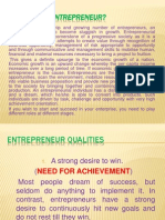 Entrepreneur Qualities