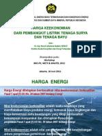 Harga Keekonomian PLTS & PLTB (Dr. -Ing Hasrul LA)