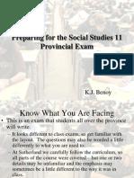 Preparing for the Sociare4l Studies 11