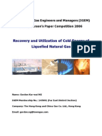 Recovery and Utilization of Cold Energy of LNG