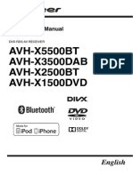 Pioneer AVH X2500BT Manual