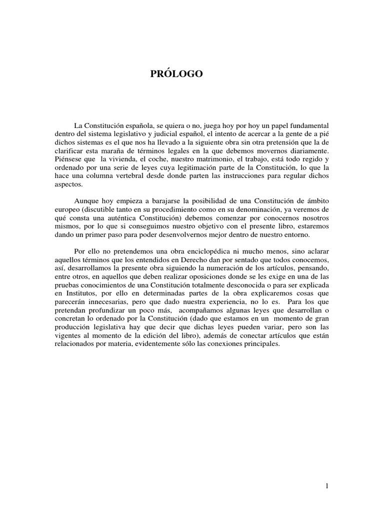 La Constitucion Española de 1978 - Explicada Para Examenes