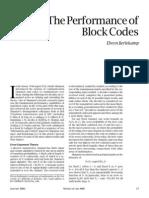 Berlekamp - Performance of Block Codes