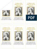 A5 - St Therese of the Child Jesus Prayer x6