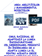 Curs Managementul Proiectelor an Universitar 2009 2010 Paunescu