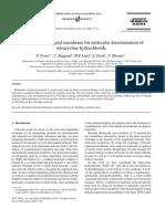 A Molecular Imprinted Membrane for Molecular Discrimination of Tetracycline Hydrochloride