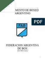 Reglamento de Boxeo Argentino