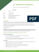 MatrikonOPC Excel Reporter Release Notes