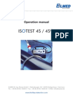 Operation Manual ISOTEST 4S 4Splus En