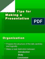 Tips for making prsentation