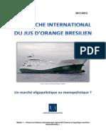 Le marché international du jus d'orange brésilien