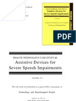 Assistive Devices for Severe Speech Impairments -- Office of Technology Assessment - United States Congress