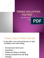 Things Nullifying Fasting