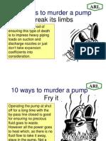 10 Ways to Murder a PUMP