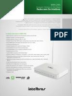 Ficha Tecnica - Roteador Wireless n 150 Mbps Wrn 240 i