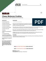 Chewy Molasses Cookies - Bon Appétit