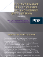 VBA for Financial Engg Course Structure