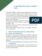Estructura Organizacional Para Los Modelos Recomendados