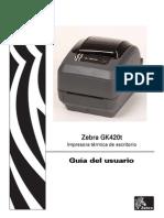 Guia de Usuario Etiquetadora Zebra GK420t
