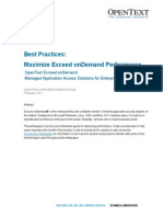 Whitepaper Best Practices Maximize Exceed OnDemand Performance