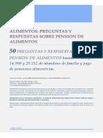 50 Preguntas y Respuestas Pension Alimentos