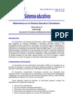 Sistema colombiano de la educacion matematica
