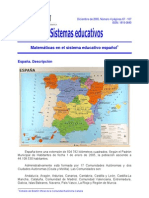 Sistema españolde la educacion matematica