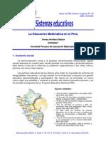 Sistema peruano de la educacion matematica