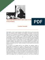 Castoriadis -- Transformacion Social y Creacion Cultural