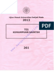 UM UGM 2013 IPA 261
