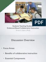 evidenced-based collaborative instruction ut