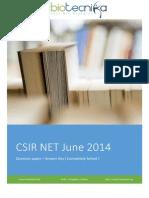 Csir Net June 2014