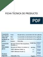 Ficha Tecnica de Producto 2