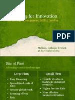 Organising for Innovation