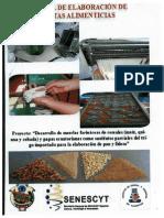 Manual de Elaboración de Pasta Alimenticias